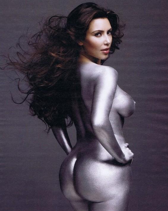 kim kardashian silver paint w cover. Kim Kardashian W