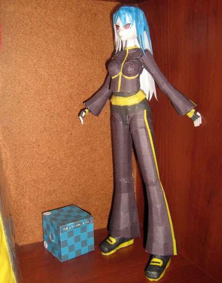 King of Fighters Papercraft Kula Diamond