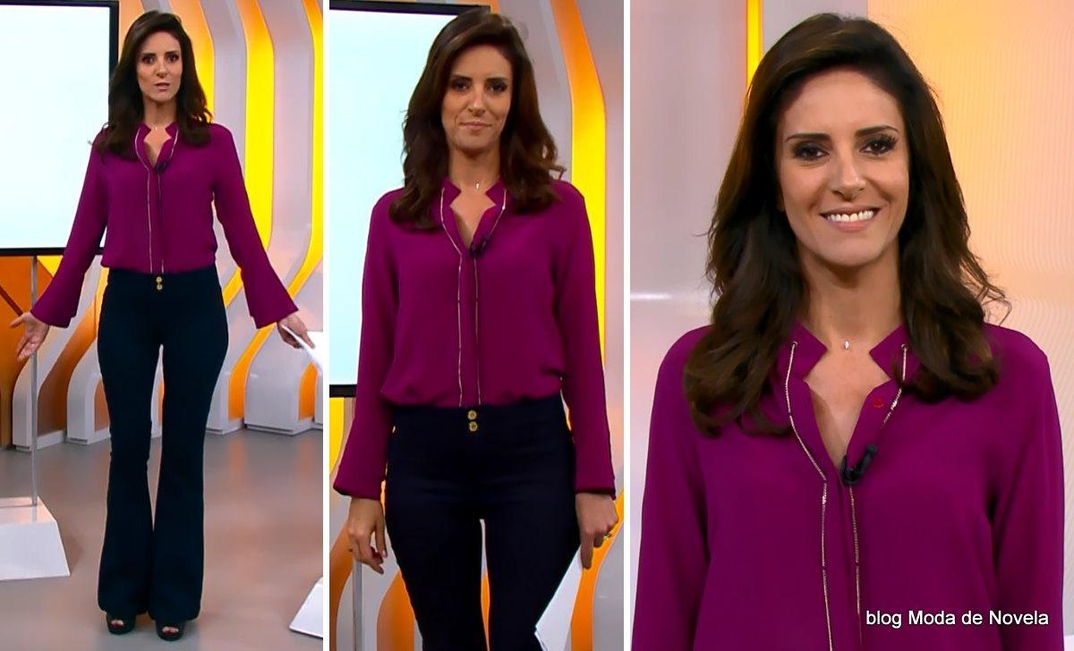 moda do programa Hora 1, look da Monalisa Perrone dia 5 de janeiro