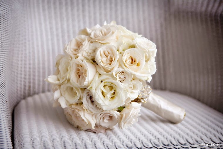 White Rose Bouquet, beach Weddings in Florida