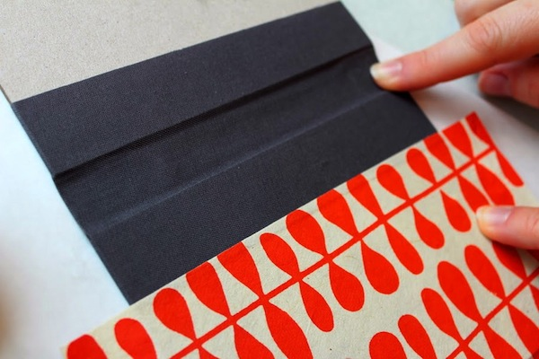 how to crafting kit hardcover bookbinding modern red paper