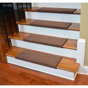 Dean premium bullnose carpet stair treads odette pointe mantle 13 plus installation tape - Refurbish stairs budget ...