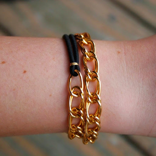 Easy DIY Chain Bracelets