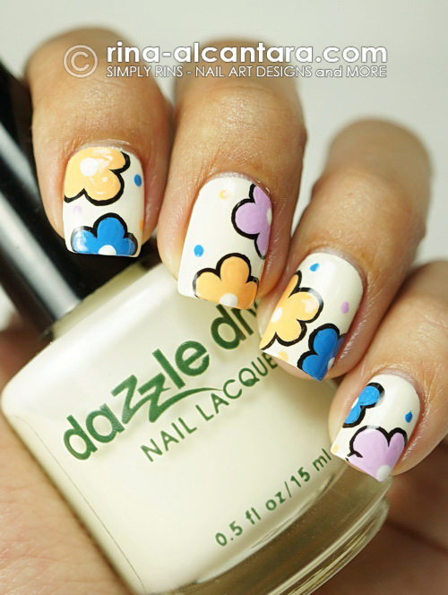 A Blooming New Year Nail Art Design