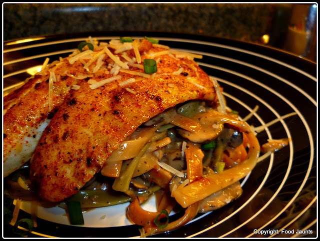 Blackened Fish Pasta in a Spicy Creamy Garlic Sauce