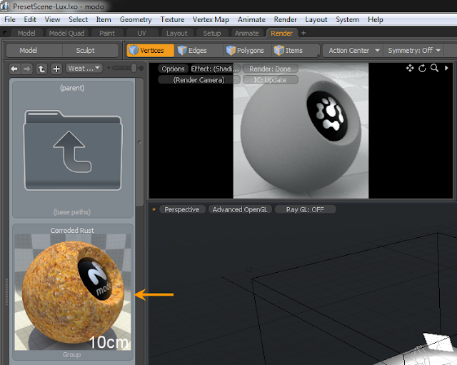 การติดตั้ง Materials ที่ดาวน์โหลดมาให้กับ modo Modomat05