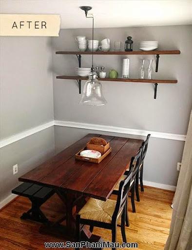 Thi công nội thất đồ gỗ: Cải tạo khoảng trống thành phòng ăn với giá 8 triệu đồng-2