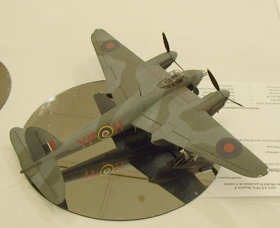 De Havilland Mosquito model - overhead view