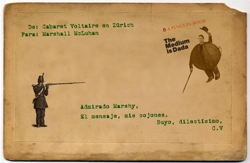 Conversaciones postales. Cabaret Voltaire vs Marshall McLuhan