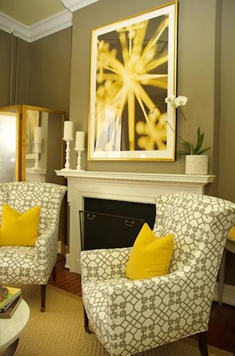 Vàng + xám: Tone màu tuyệt đẹp cho nội thất