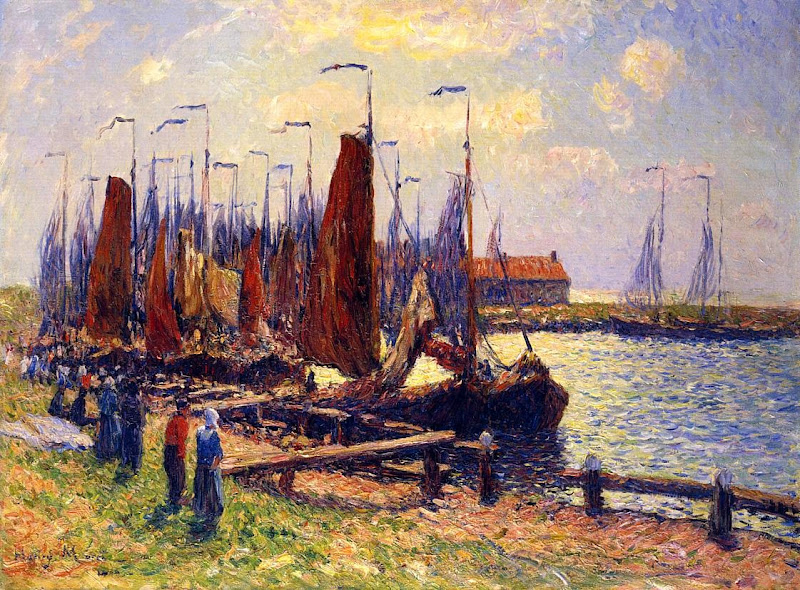 Henry Moret - The Port of Volendam, 1900