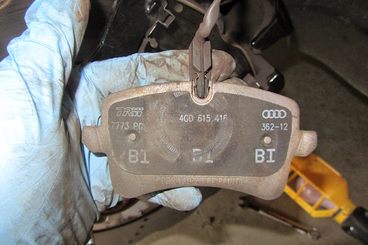 How to swap out brake pads on the B8 5 RS5