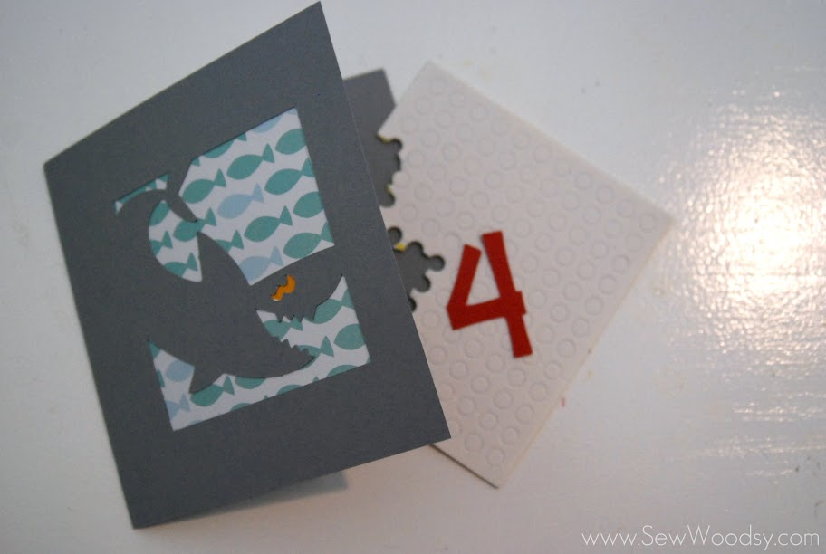 Shark 4th Birthday Card