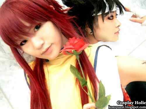 yu yu hakusho cosplay - minamino shuichi kurama and hiei