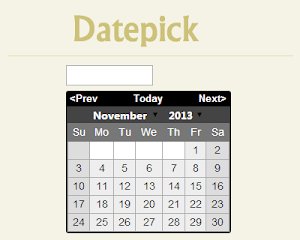 Datepick – jQuery Datepicker Plugin