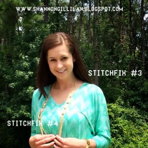 Stitch Fix Pomelo Avah Chevron Print Dolman Sleeve Top Bay to Baubles Maybel Stone & Chain Layering Necklace www.shannongillilan.blogspot.com