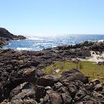 Grass platform south of rocky bay (103093)