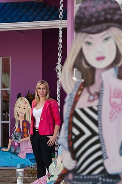 Casa cor de rosa da Barbie em Mogi das Cruzes