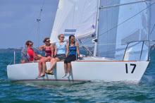 Women's J/24 team sailing J/24 Midwinters- Miami