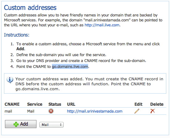 Outlook.com on a Custom Domain