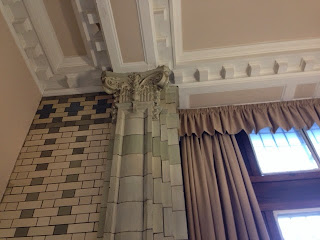 A gothic tiled pillar
