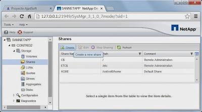 Compartir volumen CIFS en SAN NetApp