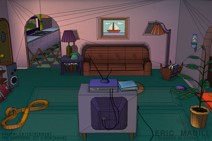 simpson living room lolygons radical entertainment 11304