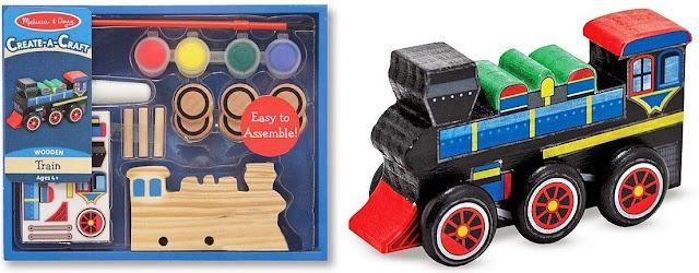 Bộ tô màu và thiết kế xe lửa bằng gỗ ME4576 gồm nhiều phụ kiện trang trí