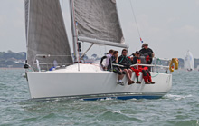 J/109 one-design- sailing Vice Admirals Cup off Cowes, IOW, UK