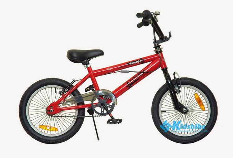 Xe đạp Totem TM202 màu đỏ thiết kế phanh chữ V, kiểu dáng x-game thời trang dành cho các bé từ 4- 9 tuổi.