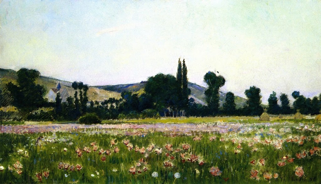 Theodore Wendel – Flowering Fields, Giverny