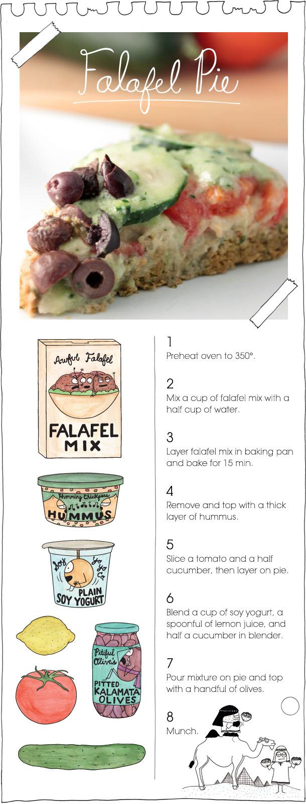 The Vegan Stoner's Falafel Pie