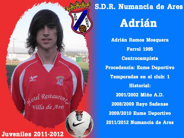 ADR Numancia de Ares. Xuvenís 2011-2012. ADRIAN.