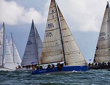 J/109 sailing start of Delta Lloyd North Sea Regatta
