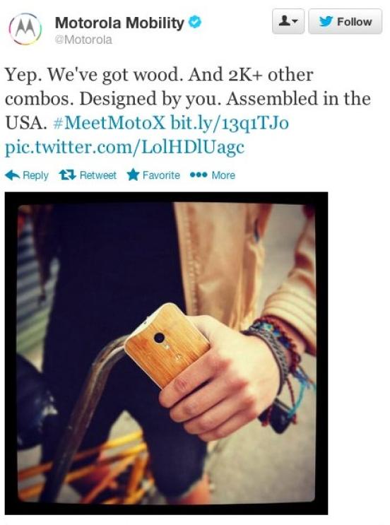 Motorola Tweet