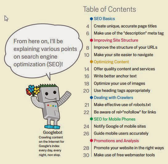 search engine optimization guide by Google