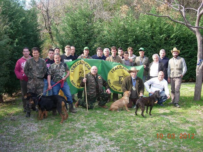 Selezioni Campionato Regionale Italcaccia per cani da seguita a coppia, su cinghiale