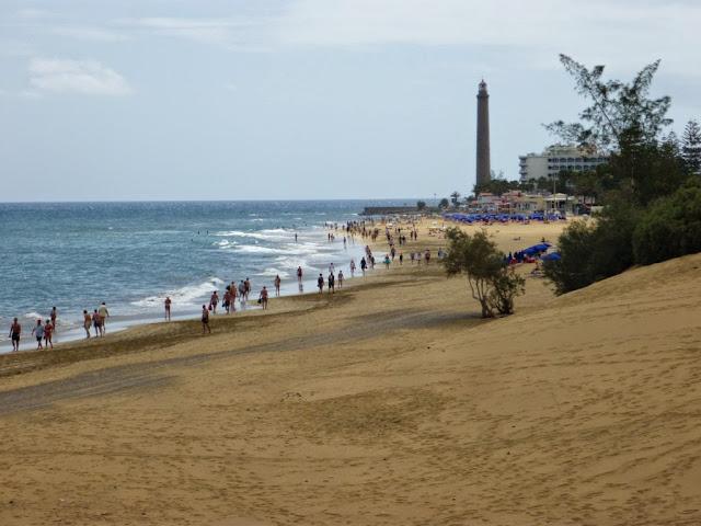 Ausblick auf den Strand von Maspalomas.