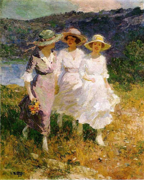 Edward Henry Potthast - Walking in the Hills