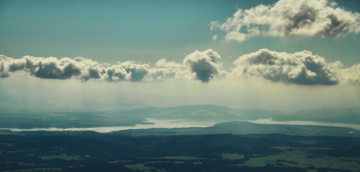 Jezioro Orawskie z Babiej Góry