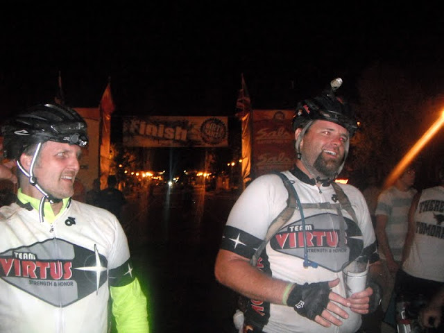 Bob and Adam at the DK200 Finish Line