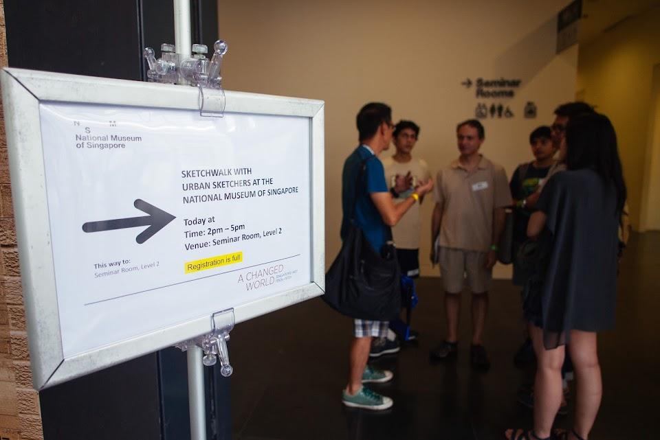 Sketchwalk at National Museum of Singapore (22 Feb 2014)