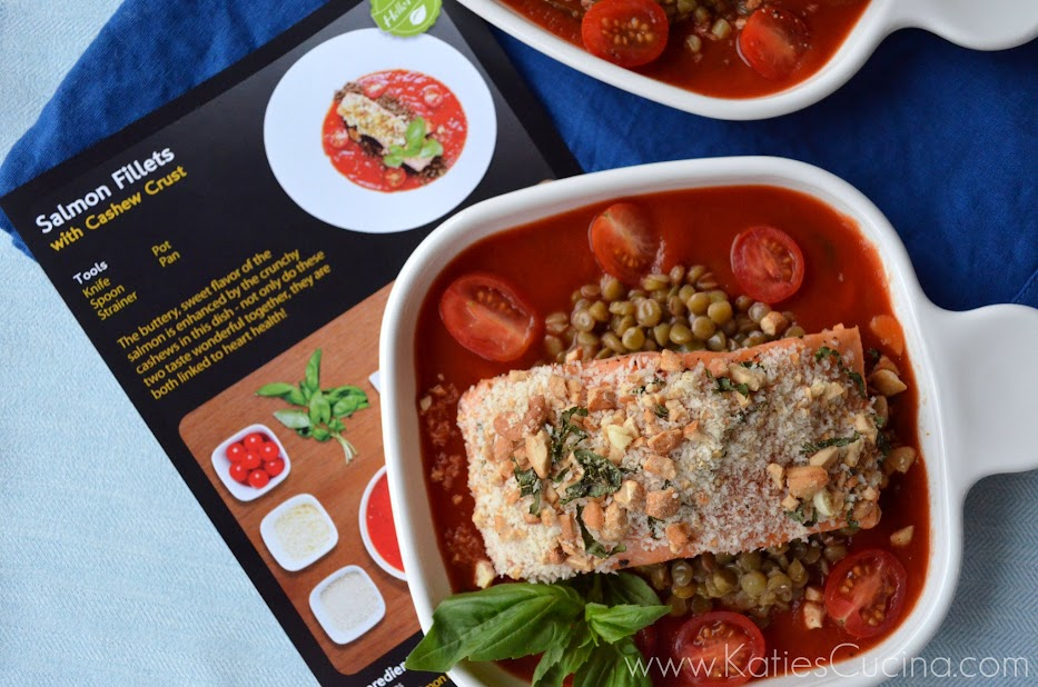 Salmon Fillets with Cashew Crust from Katiescucina.com #hellofresh