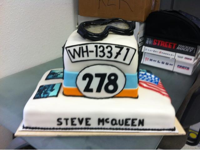 FLIRTING WITH FROSTING Steve McQueen Cake