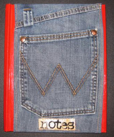 Denim pocket book