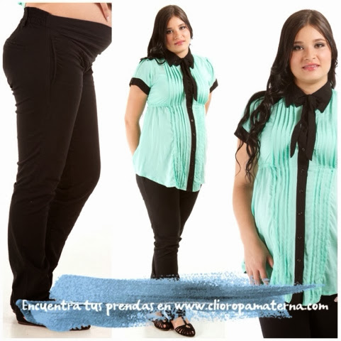 196a699a5 ... dentro de las colecciones Clío Ropa Materna. Colores clásicos en  contraste dentro de las camisas y tonos oscuros en pantalones maternos de  dril.