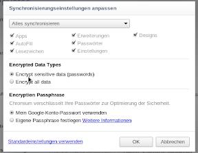 Chrome Sync Verschlüsselt