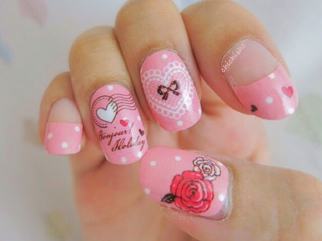 Pink Paris Nail Wraps