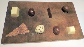 Bluehour Portland Patisserie Plate, which is made of hand crafted chocolates
