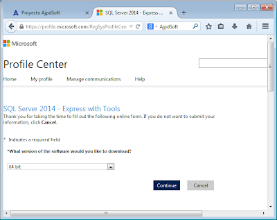 Descarga gratuita de Microsoft SQL Server Express 2014